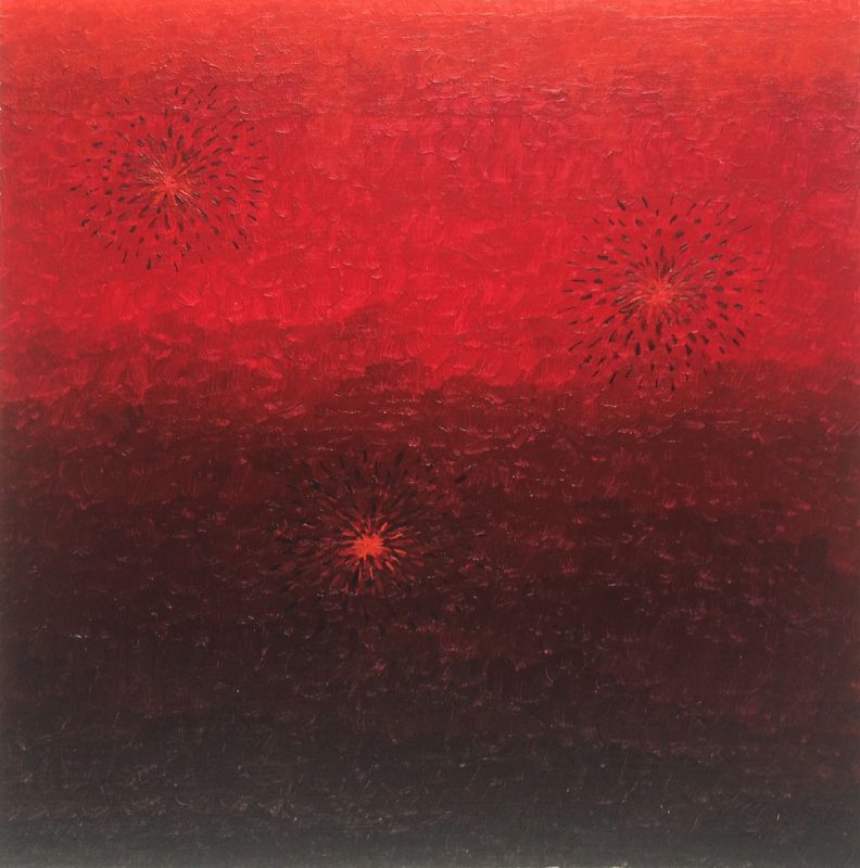 Red fires in Red sky